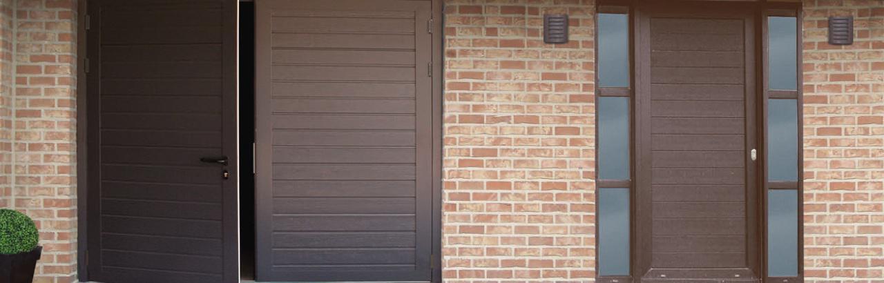 Portes de garages battantes sur mesure dans le haut rhin for Portes de garage battantes