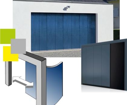 Portes de garages sectionnelles visioferm 68 mulhouse for Ouverture porte de garage avec smartphone